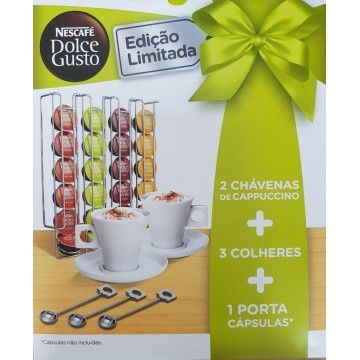 DOLCE GUSTO KIT CAPPUCCINO 1SUPORTE+2CHAVENAS+3COLHERES
