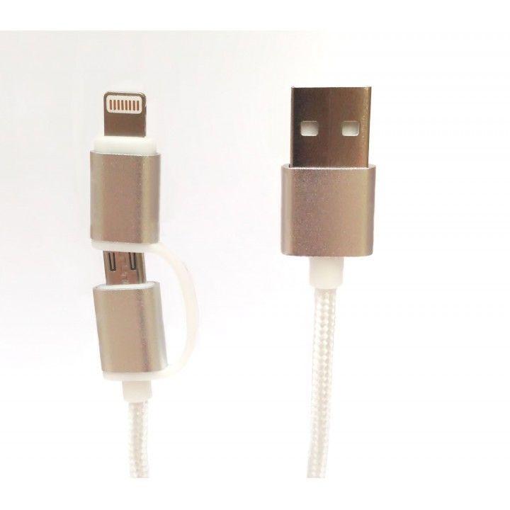 TECH FUZZION CABO USB MICRO LIGHTNING GOLD