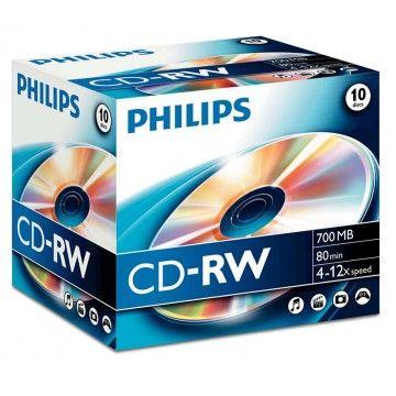 PHILIPS CD-RW 80MIN 700MB 4-12x