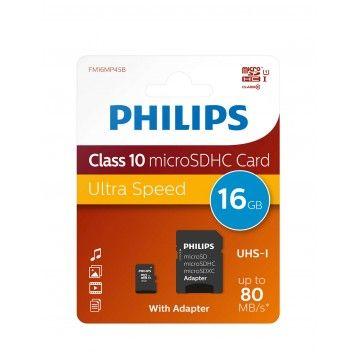 PHILIPS CARTAO MEMORIA SDHC 16GB CLASSE 10 C/ADAPTADOR