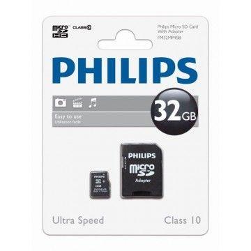 PHILIPS CARTAO MEMORIA SDHC 32GB CLASSE 10 C/ADAPTADOR