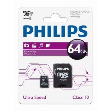 PHILIPS CARTAO MEMORIA SDXC 64GB CLASSE 10 C/ADAPTADOR