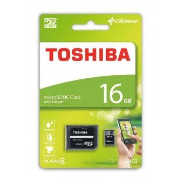TOSHIBA CARTAO MEMORIA MICRO SDHC 16GB ADAPTADOR CLASSE 4