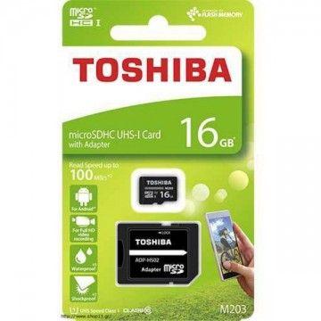 TOSHIBA CARTAO MEMORIA MICRO SDHC 16GB ADAPTADOR CLASSE 10