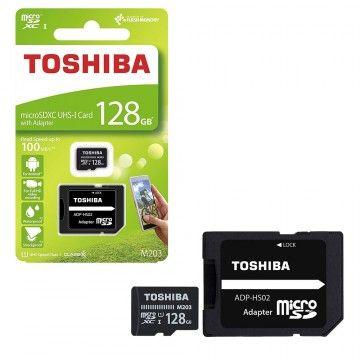 TOSHIBA CARTAO MEMORIA MICRO SDHX 128GB ADAPTADOR CLASSE10