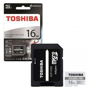 TOSHIBA CARTAO MEMORIA MICRO SDHC 16GB ADAPT C10 EXCER