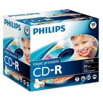 PHILIPS CD-R 80MIN 700MB 52x INKJET PRINTABLE