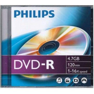 PHILIPS DVD-R 120MIN 4,7GB 16x
