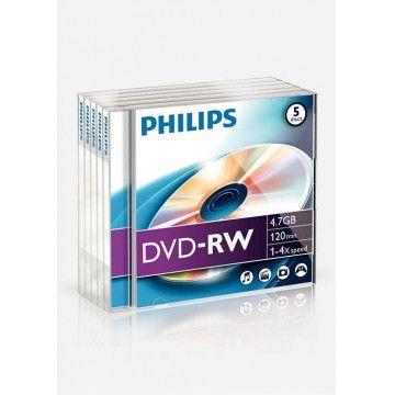 PHILIPS DVD-RW 120MIN 4,7GB 4x