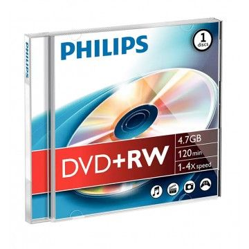 PHILIPS DVD+RW 120MIN 4,7GB 4x