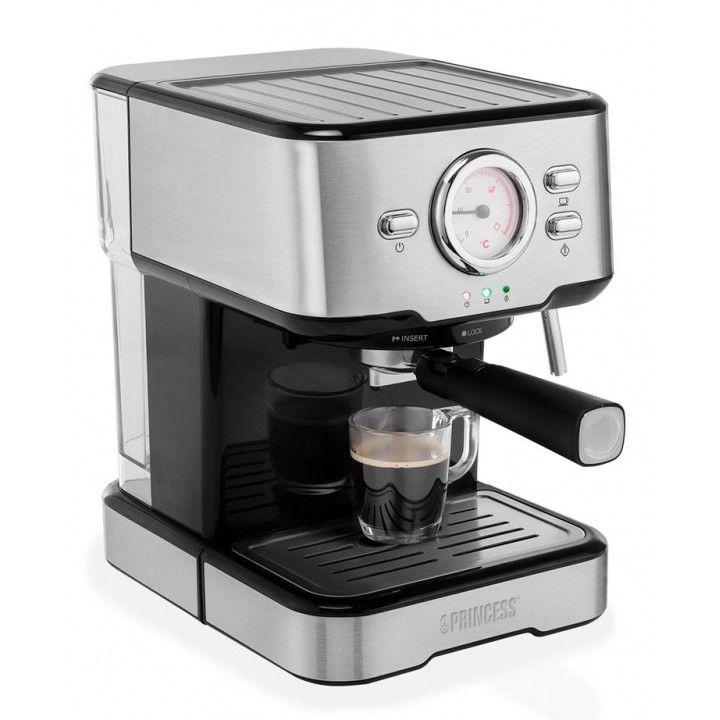PRINCESS MAQUINA CAFE EXPRESSO 1100W 20BAR 1,5LT INOX
